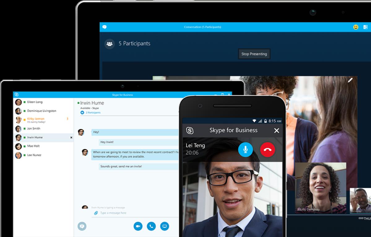 empresa a comunicar remotamente com Skype