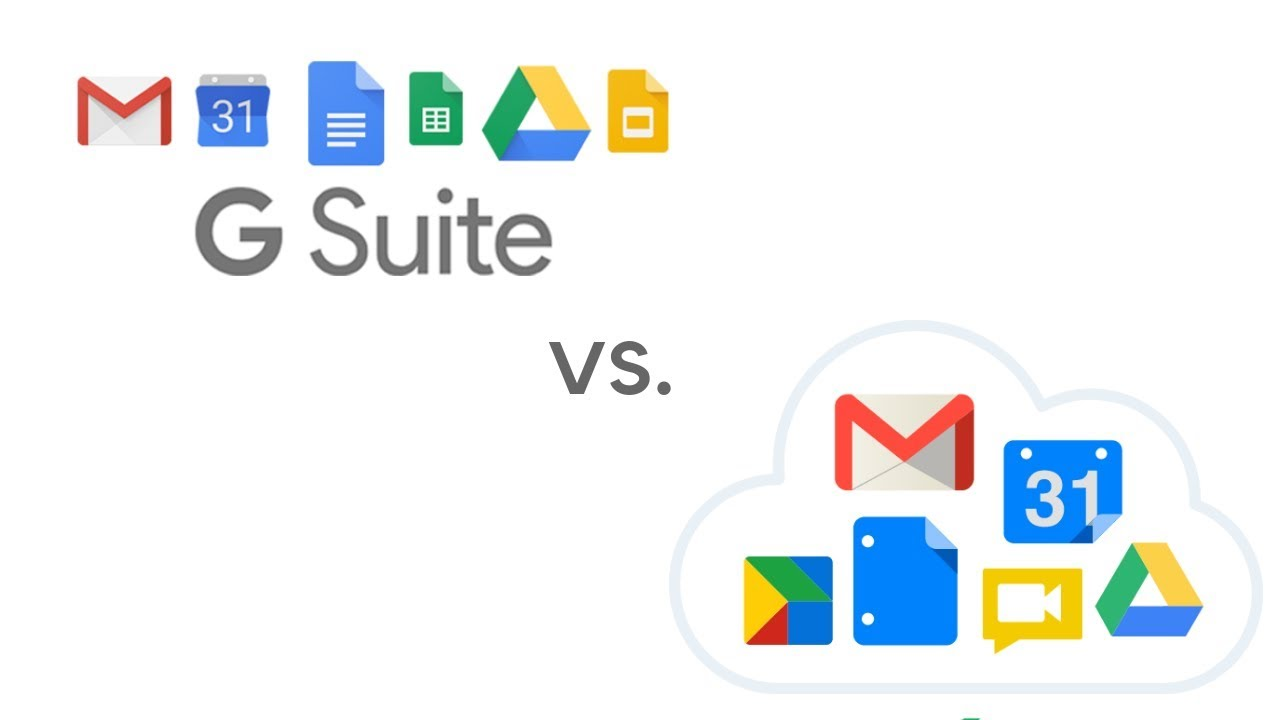 com gsuite vs google account